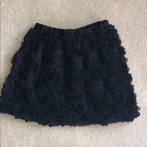 Girl's Black Frilly Skirt